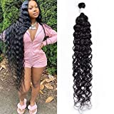 Maxine Hair 10A Brazilian Virgin Water Wave Hair 1Bundle 100% Unprocessed Long inch Wet and Wavy Water Wave Human Hair Weave Extensions Natural Color Can Be Dyed and Bleached 32 inch