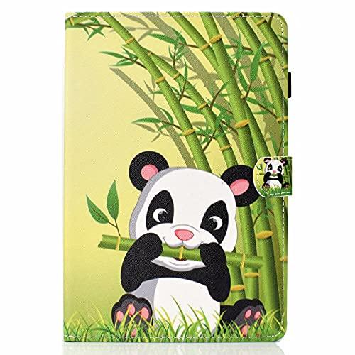 CRABOT Funda de piel para Samsung Galaxy Tab a 10.1 2019 T510/T515 (con ranuras para tarjetas), anticaída, con soporte de visión, diseño de panda