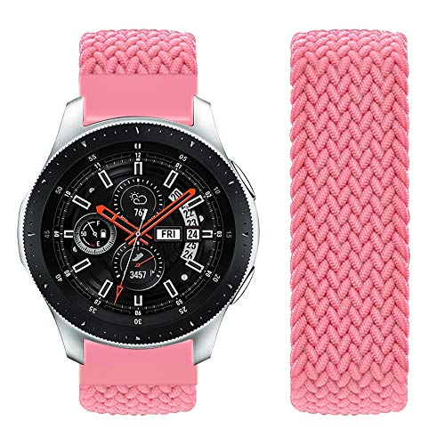 Vozehui Compatible con Samsung Galaxy Watch de 46 mm, correa de repuesto para Samsung Gear S3 Frontier/Gear S3 Classic/Galaxy Watch de 46 mm, de nailon suave y transpirable