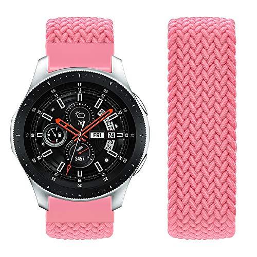 Vozehui Compatible avec Le Bracelet Samsung Galaxy Watch 46 mm, 22 mm élastique Respirant en Nylon Souple Kinitting Sport Bande de Remplacement pour Samsung Gear S3 Frontier/Galaxy Montre 46 mm