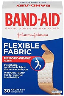 Band-Aid Flexible Fabric All One Size Adhesive Bandages 3/4 Inch