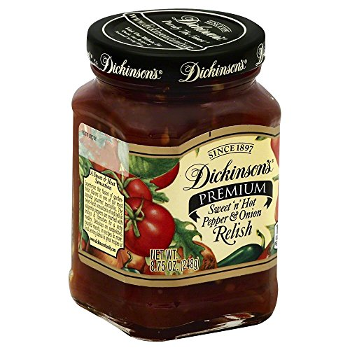 Dickinson Premium Sweet And Hot Pepper Onion Relish 6x 8.75Oz