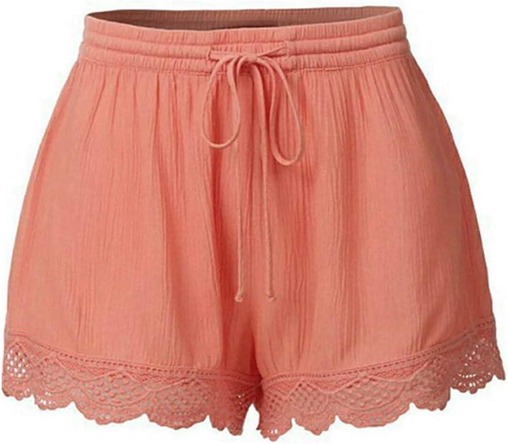 Chic /Ét/é Court Pantalons Shorts de Yoga Sport Bringbring Short en Dentelle Femmes