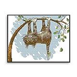 Miwaimao Kits De Punto De Cruz Para Adultos Principiantes, Colgando Del Árbol Boca Abajo Kitty Decorativo Imagen Colgante Paquete De Material De Bricolaje 11ct34*25cm