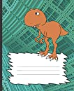 School Composition Notebook: City Stomping T Rex Blank Journal for Kids: Awesome