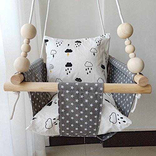 HB.YE - Sedia amaca in tela di lino per bambini...