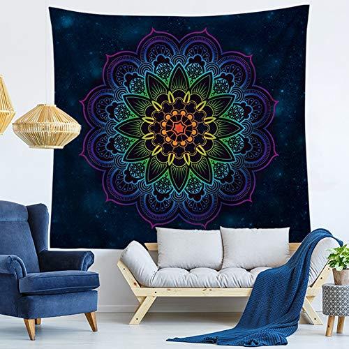 Morbuy Kreativ Mandala Tapestry Hippie Wandteppich Tapisserie Design Motiv Wandbehang Wandtuch Tischdecke Meditation Strandtuch Yogamatte Wall Home Décor (150 x 200cm, Mandala 2)