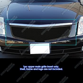 APS Compatible with 2008-2013 Cadillac CTS Bumper Stainless Steel Mesh Grille Grill Insert N19-T87567A