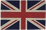 Nicoman Felpudo con Bandera británica y Texto en inglés Royal Army Navy RAF Mod, 60 x 40 cm