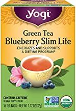 Yogi Tea - Green Tea Blueberry Slim Life (6 Pack) - Energizes and Supports a Dieting Program - 96 Tea Bags