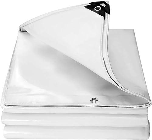 Bache imperméable Blanche imperméable de Toile de Tissu d'ombre de bache de Camion de bache (Taille   5 X 8m)