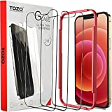 TOZO Compatible for iPhone 12 Pro Max Screen Protector 3 Pack Premium Tempered Glass 0.26mm 9H Hardness 2.5D Film Easy install 6.7 inch
