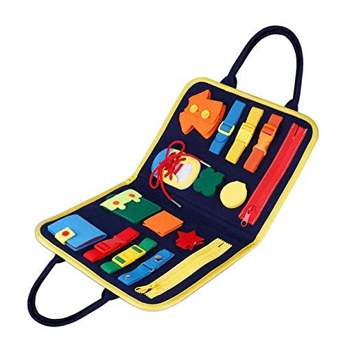 Ocupado Jugando Juguetes Montessori, Vestirse Para Aprender Las Habilidades Básicas De Los Juguetes Sensoriales Juguetes Montessori Tablero De Actividades Aprenda Mejorar Las Habilidades Motoras Finas