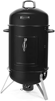 "Barton Vertical 18"" Charcoal Smoker with Temperature Gauge BBQ Smoker Grill for Outdoor Cooking Grilling"