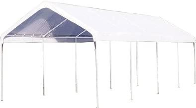 King Canopy C81027PC 10-Feet by 27-Feet Universal 10-Leg Silver Canopy, White