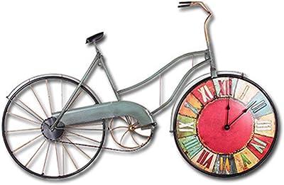 XIAOMIAO Relojes de Pared Vintage Decoración Creativo Bicicleta ...