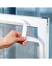 Universeel Venster Transparant Vliegenhor Venster Vliegenhor 150x200cm transparant horrengaas Eenvoudige installatie zonder boren-White||0.8x1m