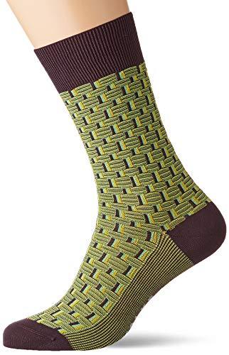FALKE Herren Socken Strap Bo&ary, Baumwollmischung, 1 Paar, Violett (Violet Onyx 8136), Größe: 43-44