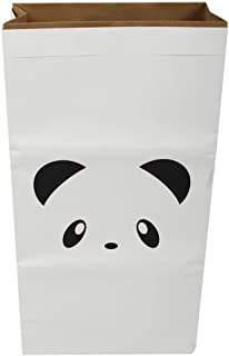 SODIAL Large Cartoon Storage Bags Children Baby Play Mat Toys Clothes Organizer Heavy Kraft Paper Kids Laundry Bag Home DecorPanda 2 White