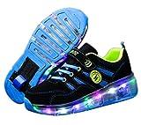 Chaussure avec Roue Baskets Enfants Clignotante Chaussures à roulettes LED Chaussures Lumineuse À roulettes Garçons Filles Sneakers avec Roues