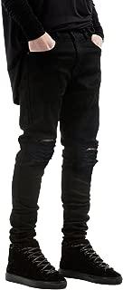 NITAGUT Men's Slim Fit Stretch Destroyed Ripped Skinny Denim Jeans