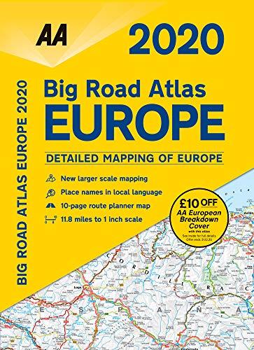 Big Road Atlas Europe 2020 Spiral bound (AA Road Atlas Europe)