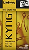 Lifestyles Kyng Condoms, 10 Count