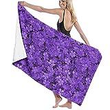 Cozy-T Static Pretty Field of Purple Flowers Printing Toallas de baño 32in52in Best Baño Toallas Toalla de Playas for...