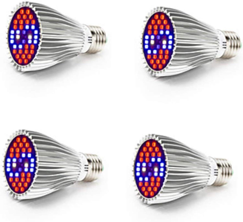 TQ 4pcs 800-1200 lm E26   E27 Wachsende Glühbirne 40 LED-Perlen SMD 5730 Vollspektrum Dekorativ Wei Rot Blau 85-265 V RoHs FCC