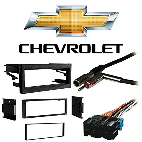 Compatible with Chevy Suburban 1995 1996 1997 1998 1999 2000 2001 2002 Single DIN Stereo Harness Radio Install Dash Kit