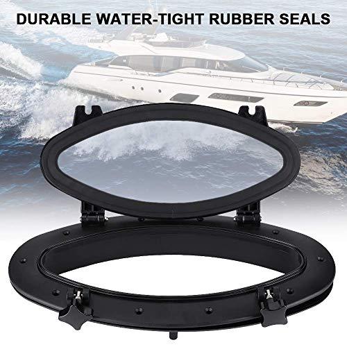 Akozon Ventana de ojo de buey para barco Ojo de buey ovalado anti-ultravioleta antienvejecimiento 410x220 Portillo Ventana de vidrio para barco marino Yate RV