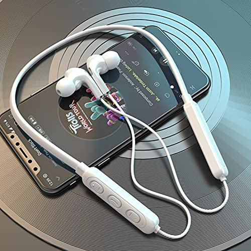 AOOF Bluetooth Headset Nacken-Hals Headset Wireless Sport Headset Hängend Hals Bluetooth Headset In-Ear Headset Bt-71thirdgenerationBluetoothwhite