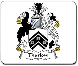 Thurlow Family Crest Coat of Arms Mouse Pad