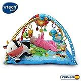 VTech Mantita de juego cantarín 2 en 1, manta y gimnasio de aprendizaje para bebé con más de 40 canciones, frases y melodías, panel extraíble, multicolor (80-146422)