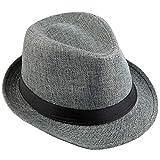 KYEYGWO Fedora-Hut Mode Filz Gangster Hüte für Mann und Frau, Trilby Snap breiter Krempe Vintage...