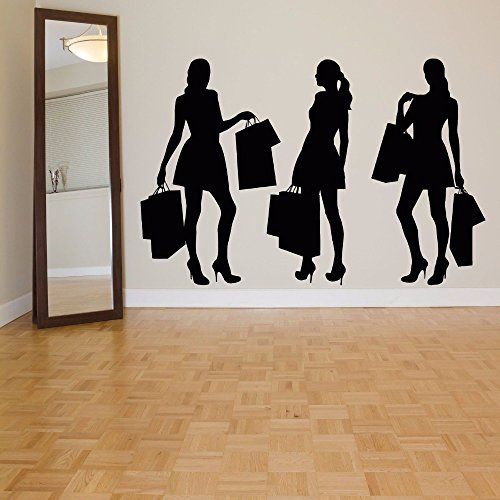 wen-shhen Bekleidungsgeschäft Dekoration Glas Wandaufkleber Bekleidungsgeschäft Dekoration Garderobe Vitrine Dekoration Bekleidungsgeschäft Dekoration