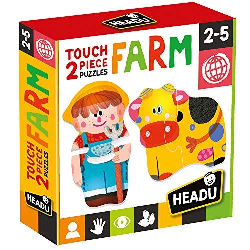 Headu 2 Pieces Puzzle Touch Farm, Multicolore, MU24889