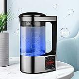 Kacsoo Generador de Agua de hidrógeno Generador de Iones de Agua de Gran Capacidad 2L con Pantalla LED de Control táctil Digital de termostato para familias y Empresas