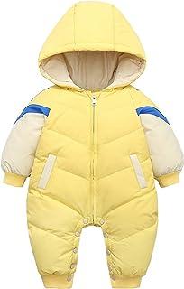 JiAmy Bebé Traje de Nieve Mameluco con Capucha Ropa de Invierno Pluma Mono Chaqueta Niñas Niños Pelele Traje 6-18 Meses