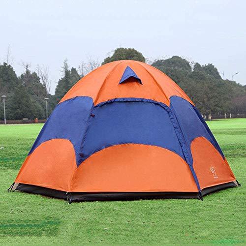 5-8 Menschen mongolische Zelte, mit Moskitonetz wasserdicht Falten getrennter Doppelschicht Camping Angeln Sommer Strandzelt,Orange
