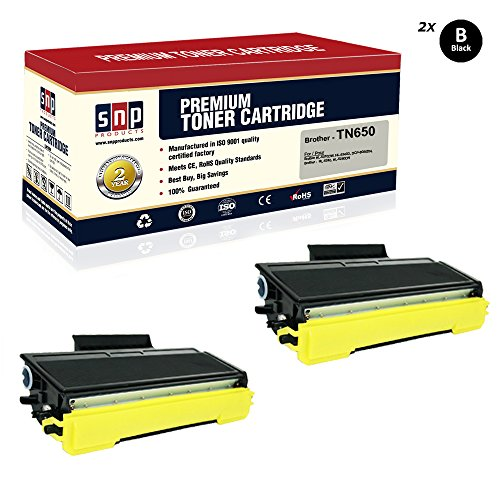 SNP Compatible Toner Cartridge for Replacement of Brother TN650 TN580 Black Toner, Brother 2Black TN650 TN580. Compatible with– Brother HL-5370DW, HL-5340D, DCP-8065DN, HL-5240, HL-5250DN