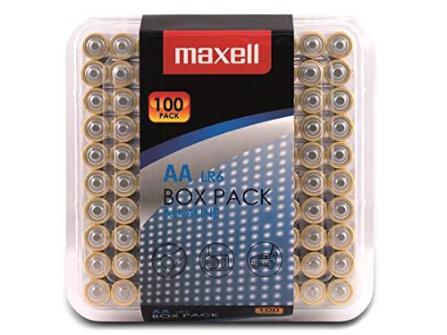 Maxell Alkaline LR6 AA Mignon Batterie Box Pack (100er Pack)