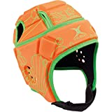 Gilbert Attack Blitz Rugby Casque de Protection, Orange/Vert, Petit