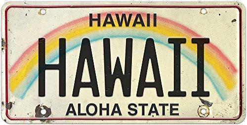 Pacifica Island Art 6in x 12in Vintage Hawaiian Embossed License Plate...