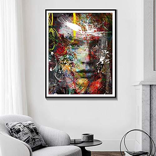 Rahmenlose Malerei Abstrakte Wandplakate und Drucke Hauptdekoration Aquarellmalerei Moderne Ölgemälde Kunst LeinwandAY7105 60X80cm