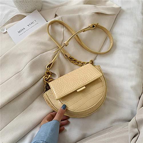 LOH Pierre Motif Sacs Bandoulière Sacs Femmes Été Sacs À Main D'épaule Femelle Voyage Cross Body Bag, Jaune, 22 cm x 15 cm x 7 cm