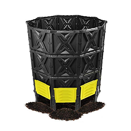 EJWOX Large Compost Bin - 190 Gallon (720 L) Garden Composter with Better Aeration System, Easy Assembling/BPA Free/Sturdy/Outdoor Compost Tumbler