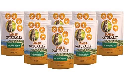 Iams Naturally kattenvoer, droog voer voor katten met natuurlijke ingrediënten, verschillende Maten, 8 x 270 g