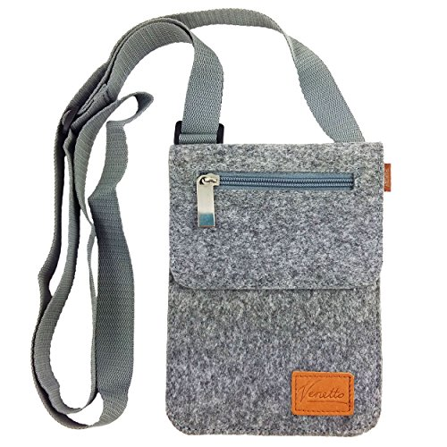 Kleine Umhängetasche Schultertasche Handtasche Freizeittasche Damentasche Brusttasche Herren-Tasche Unisex (Grau)