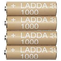 IKEA イケア LADDA ラッダ 充電式電池, HR6 AA (単3形) 1.2V 4ピース 203.038.74 20303874